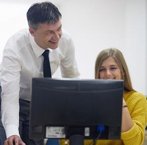 Teachers at Computer
