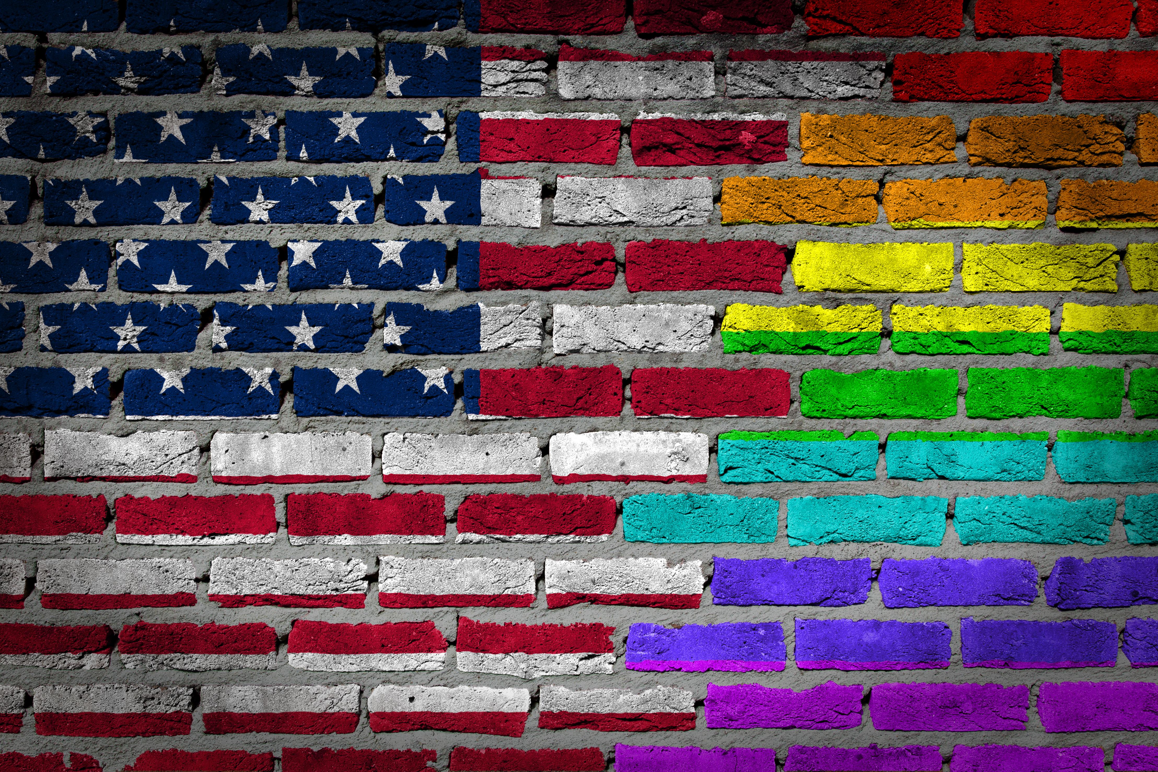 Dark brick wall - LGBT rights
